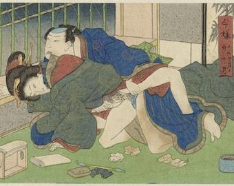 Erotica; Japanese Shunga; Jugatsu, The Tenth Month, Anonymous, 1835-1845