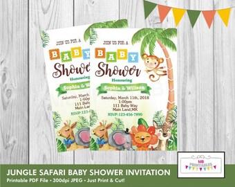 Safari Baby Shower Invitation,Baby Shower Invitation,safari Printable Invitation,baby shower Invite,safari Baby Shower Invites,jungle safari