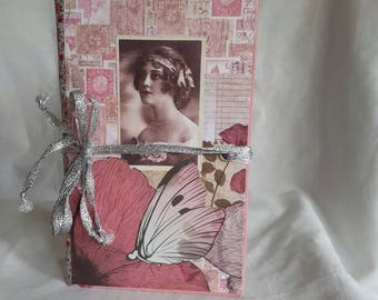 Vintage Lady theme junk journal vintage writing journal womans journal keepsake book diary scrapbook