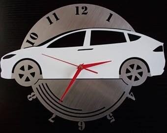 Clock Tesla Model X electric car stainless steel wall Hauptmarkt design Wall Clock