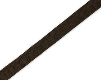 1 m braided Cord Choco 14 mm