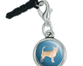 Chihuahua Dog Pet Drawing Mobile Cell Phone Headphone Jack Anti-Dust Charm fits iPhone iPod Galaxy