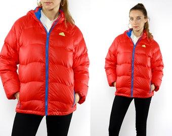 Adidas Puffer Jacket / Adidas Down Jacket / Adidas 90s Jacket / Red Puffer Jacket / Red Down Jacket / 90s Puffer Jacket / 90s Down Jacket
