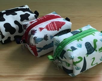 Change Purse Back to School Alligators, Turtles, Fish, Dinosaurs, Butterflies, ASL and Cow Prints