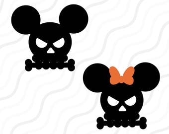 Halloween Mickey Skull SVG, Skull SVG, Halloween Skull SVG Cut table Design,svg,dxf,png Use With Silhouette Studio & Cricut_Instant Download