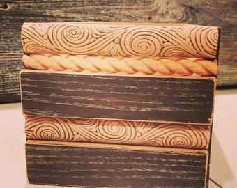 Handmade decorative wooden storage box