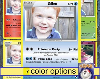 Pokemon, pokemon birthday invitation, pokemon invitation, pokemon birthday, pokemon birthday invitations, pokemon invitations, Pokemon cards