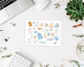 Stationery Addicted, transparent Stickers