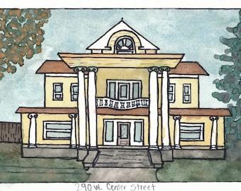 Original Watercolor- 290 W. Center St.