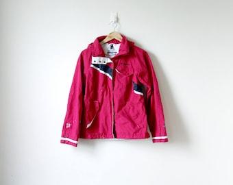 90s Columbia Windbreaker - Pink 90s Windbreaker - Vintage Windbreaker - Columbia Jacket - 90s Jacket - Pink Windbreaker - Women's M