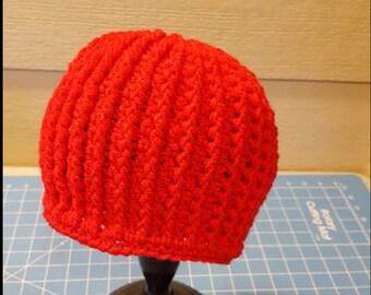 Red Messy Bun Hat/ponytail