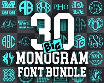 MONOGRAM FONT SVG Bundle font svg monogram font bundle svg - fonts download dxf fonts cricut font svg monogram font - 013