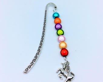 Rainbow unicorn bookmark