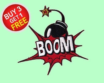 Boom Patches Iron On Embroidered Patches Embroidered Applique