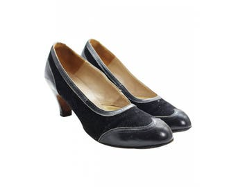 1940's Black Heeled Shoes