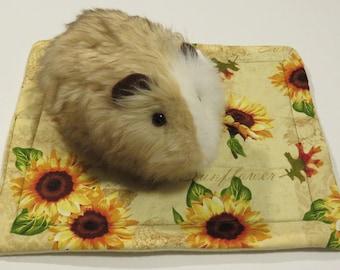 "Sunflower potty pee pads- 11"" x 13"" fleece pads for guinea pigs, ferrets, hedgehogs, rats"