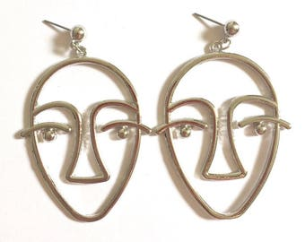 Minimalist Face Earrings