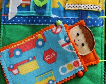 Quiet book | Toddler felt book | Montessori toy | Busy book for baby
