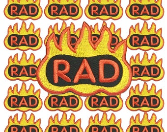 Rad and Fire Iron on Patch by 24PlanetsStudio