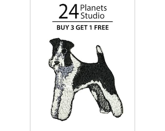 Schnauzer#101 Iron on Patch by 24PlanetsStudio Cute Applique Cute Patch dog patch dogs