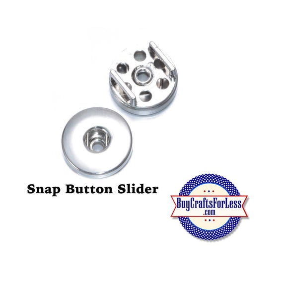 SNAP Slider Button, 18mm for Interchangeable Snap Buttons, fit 8mm bracelets, collars, key rings  +FREE Shipping & Discounts