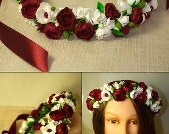 Flower Crown , floral crown , floral crown  hair wreath.