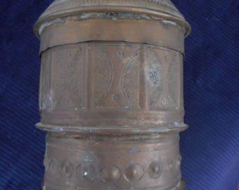 antique ashanti Kuduo  container