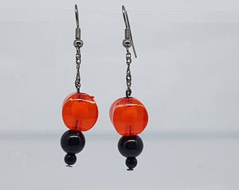 Earrings - unique - Chinese Lantern