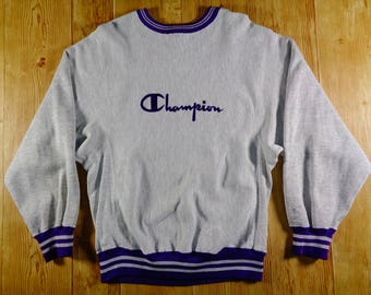 20% OFF Vintage U.S.A CHAMPION Hip Hop Grey Sweatshirt Sweater Jumper