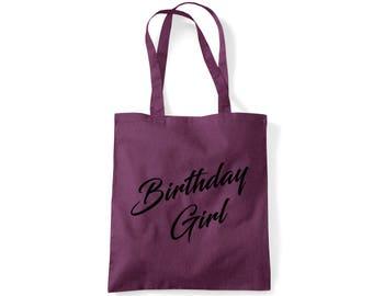 Birthday Girl Cotton Tote - 6 Colours