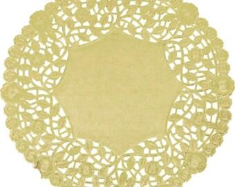 """10"""" 100PCS Gold Foil Lace Doily, Paper Doilies, Doily, Lace Doily, Lace Doilies, Foil Doilies, Gold Lace Doily, Gold Foil Doilies, Gold"""