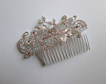Vintage Style Hair Comb, Swarovski Crystals, Bridal Hair Comb, Wedding hair jewelry, Bridal hair piece, Wedding hair piece