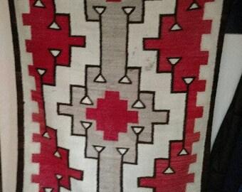 """Vintage Navajo """"Crystal"""" Rug, Circa 1930's"""