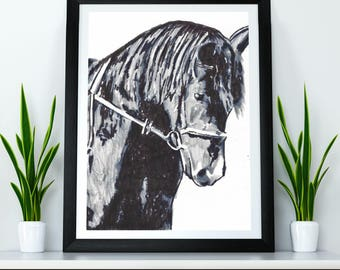 Unframed - Custom Portrait - Pet - Hand drawn from photo, Hand Drawn Portrait , Dog Portrait, Horse Portrait, Pet Portrait