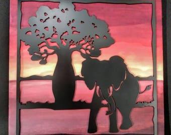 Elephant & Baobab Tree