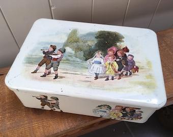 Large Vintage  Tin Box