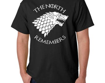 The North Remembers GOT Inspired T-Shirt (Adult Unisex & Ladies)