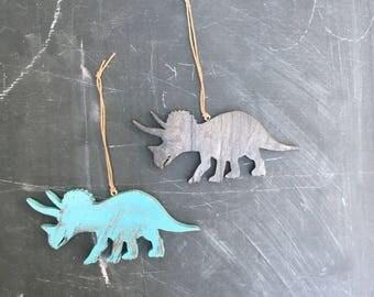 Dinosaur Christmas Ornament, T-rex Ornament, Kid's Ornament, Triceratop Ornament, Dinosaur Decor, triceratop keychain, brontasaurous