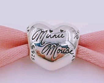 Pandora Disney Minnie Signature Heart Parks Exclusive Charm