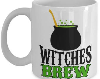 Witches Brew Coffee Mug Halloween Gifts, Tea Cup