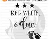 SVG Cutting File, Red Whi...