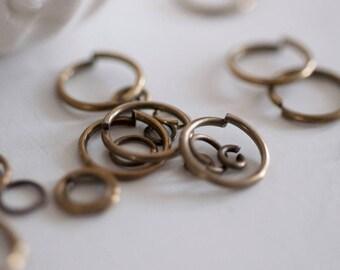Set of ringed bronze sizes - 10 grams