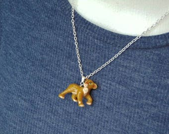 Vintage Disney Lion King Inspired Simba Necklace