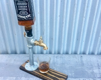 Jack Daniels Whiskey Dispenser - Fully Functional | Gift for him | Mancave | Jack Daniels |  Barware | Industrial | Father's Day