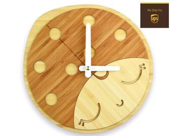 LADYBIRD - Bamboo Wall Clock