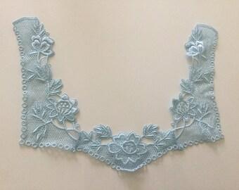 22 * 30 cm color blue guipure applies sewing