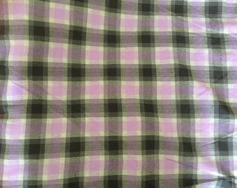 Fabric width 150 about printing a plaid wool cotton