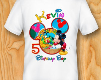 DIGITAL FILE, Mickey Mouse Iron On Transfer. Mickey Mouse Birthday Shirt Transfer