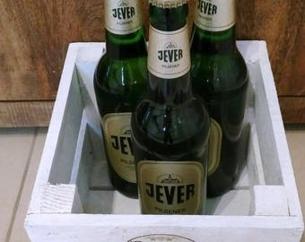 Beer garden, gifts for men, men gift, wooden crate beer, gift box, bottle rack, birthday box, crate, beer gift