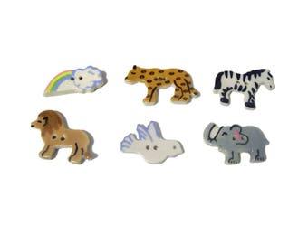 Ceramic Animal Buttons